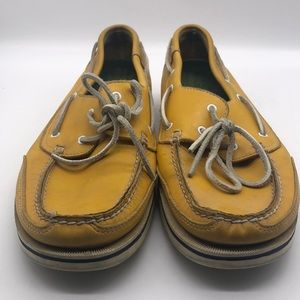 Men's Leather Rockport Loafers Yellow Shoes 13